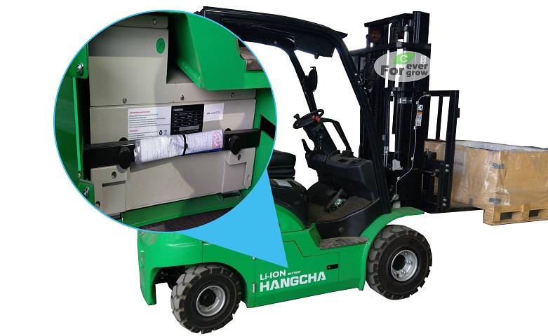 全新杭叉鋰電池堆高機搭配鋰電池